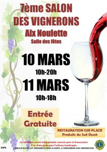 salon vignerons 2018 (avec foie gras)