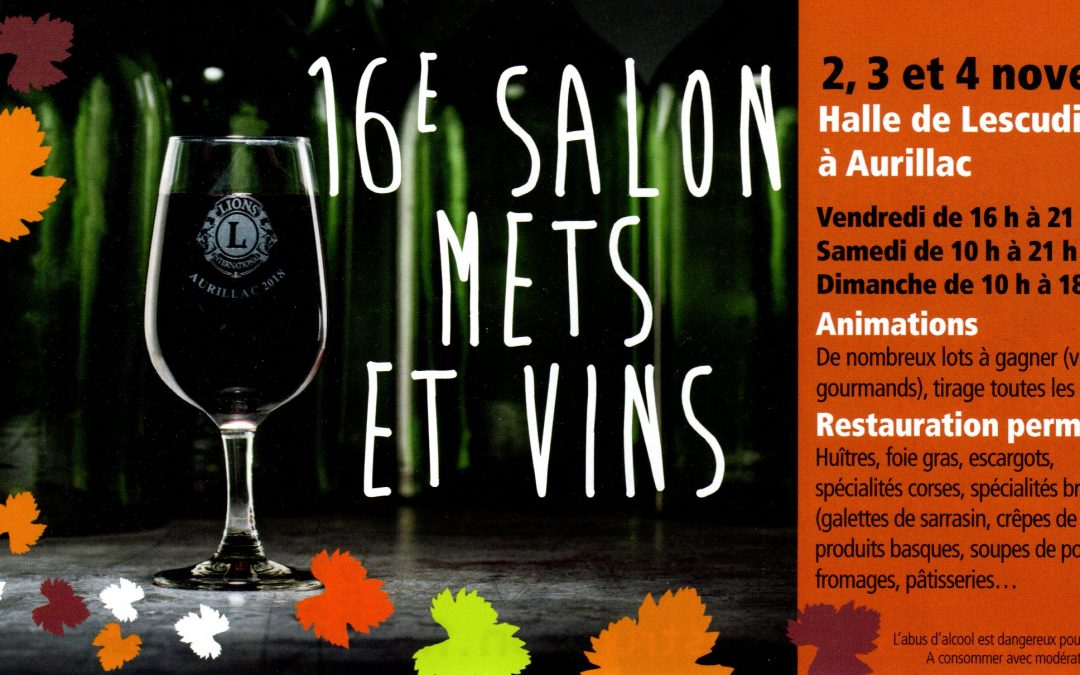 Salon mets et vins Aurillac